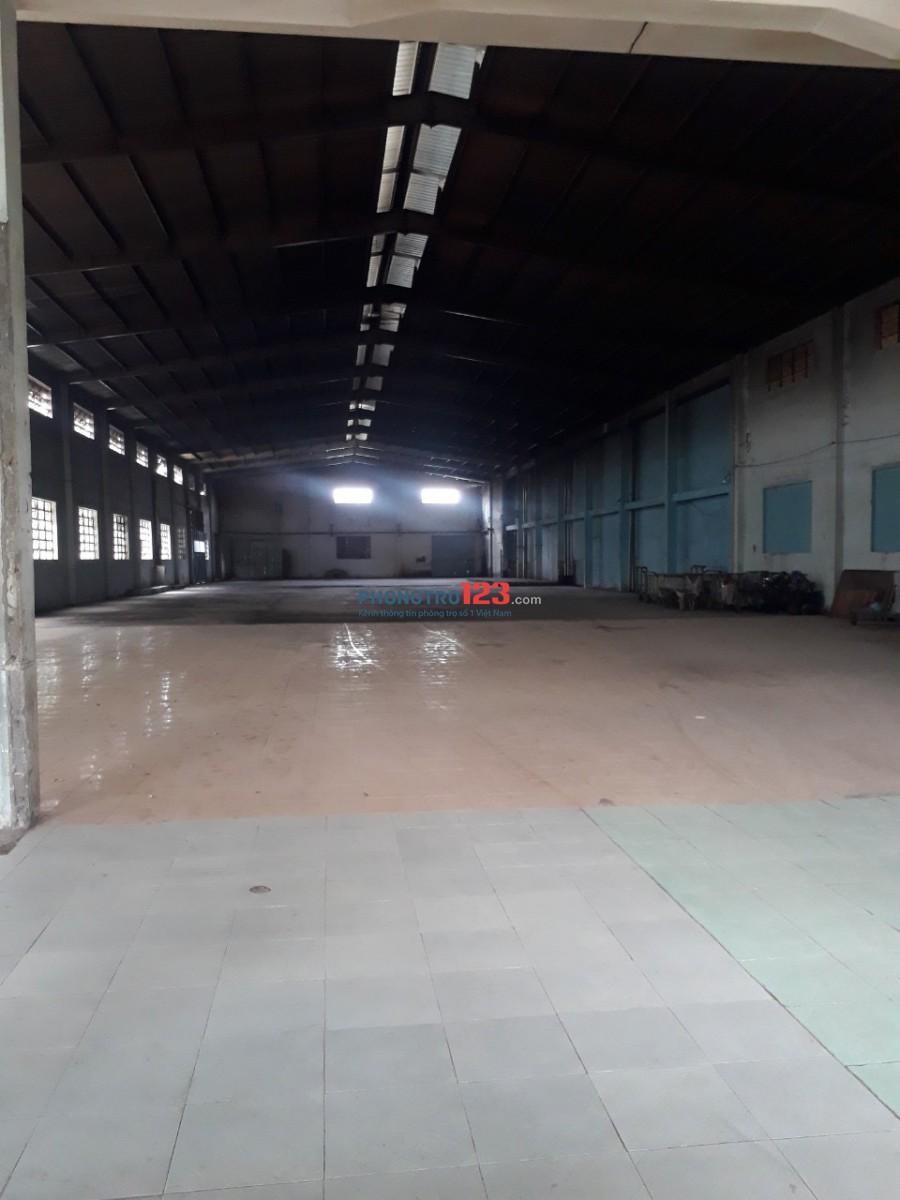 Cho thuê kho xưởng đường lớn 3100m2 và 3500m2 gần cầu Tham Lương Q12