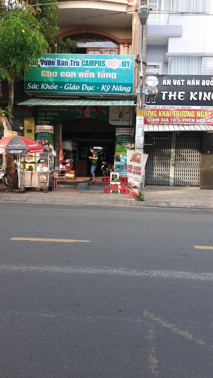 Cho thuê mặt bằng kinh doanh vừa làm căn tin trong trung tâm, vừa nằm ngay mặt tiền đường Độc Lập, Quận Tân Phú