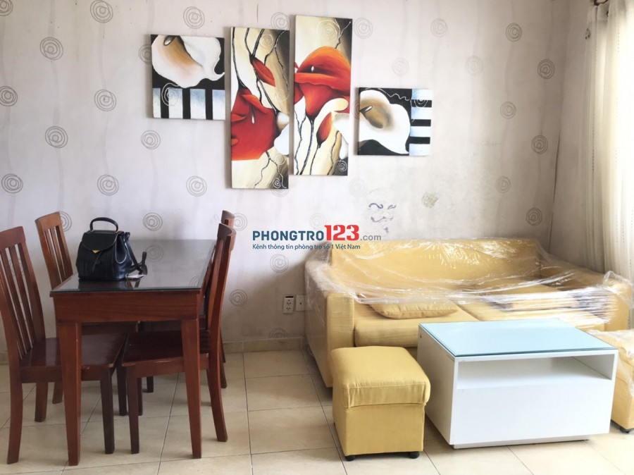 Chính chủ cho thuê căn hộ Thanh Nhựt Q8 đầy đủ nội thất 70m2 có 2pn giá 6tr/th