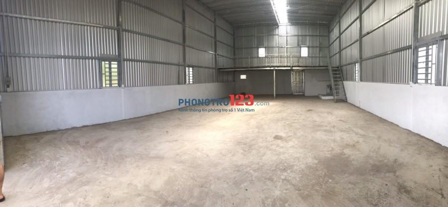 Cho thuê 220m2 kho xưởng mới xây đường xe tải tại hẻm 140 Vườn Lài P An Phú Đông Q12