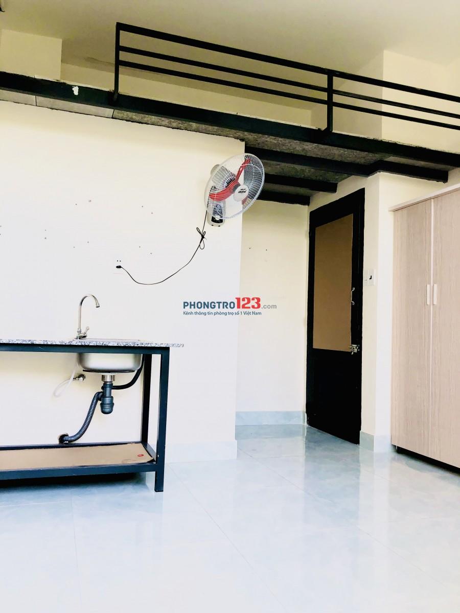 Cho thuê phòng mới xây có máy lạnh giờ tự do
