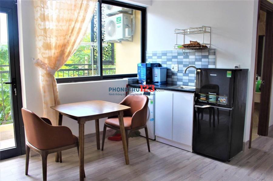 Cho thuê căn 1pn trung tâm Sơn Trà, Hải Châu nội thất cao cấp, bancon riêng chỉ 4tr