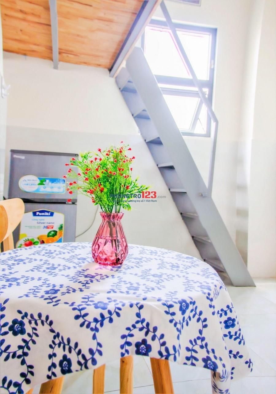 Cho thuê phòng trọ cao cấp có gác cao nội thất cơ bản sạch sẻ thoáng mát giá siêu rẻ quận Tân Bình