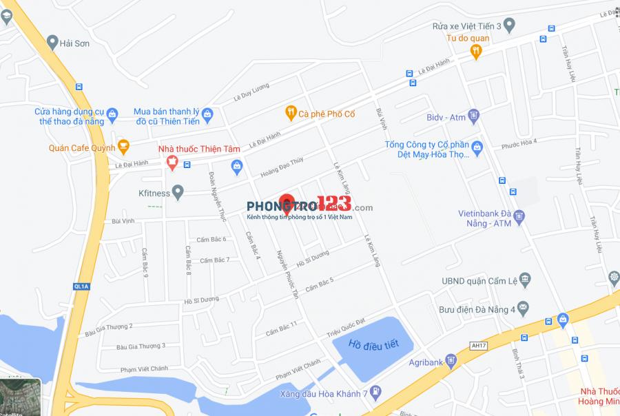 Cho thuê phòng trọ giá rẻ tại khu Hòa Thọ Đông, Cẩm Lệ