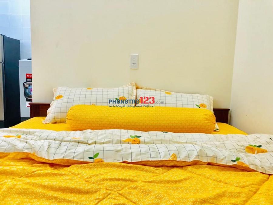 Cho thuê phòng trọ dạng căn hộ mini Nguyễn Văn Quá, ngay cầu Tham Lương. Giường tầng, Cửa sổ to. Chỉ từ 3,8tr/th