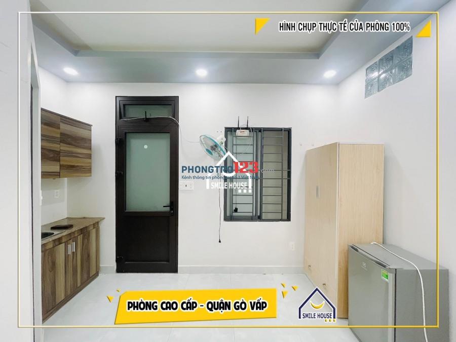Phòng 18m2, mới xây gần ĐH Văn Lang cs3, máy lạnh, tủ lạnh có đủ 116/46 DQH
