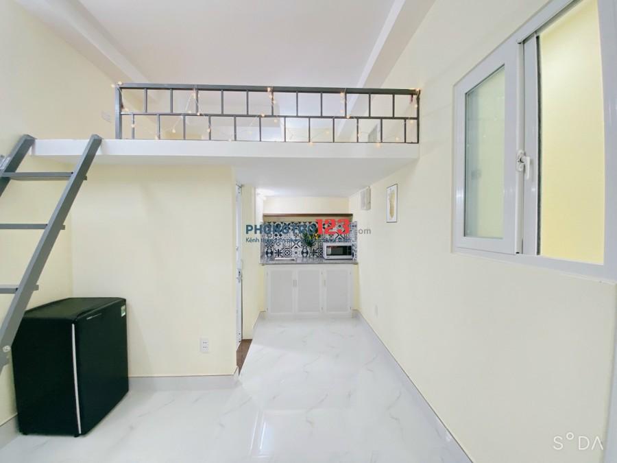 CHDV/Phòng trọ cao cấp + gác lửng, full tiện nghi trung tâm Q. Bình Thạnh