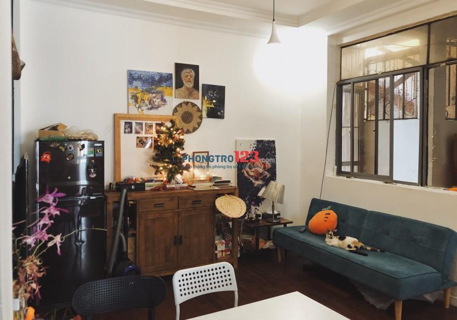 Cho thuê CH 60m2 2pn đầy đủ nội thất tại 518 Võ Văn Kiệt Cầu Kho Q1 giá 9,5tr/th