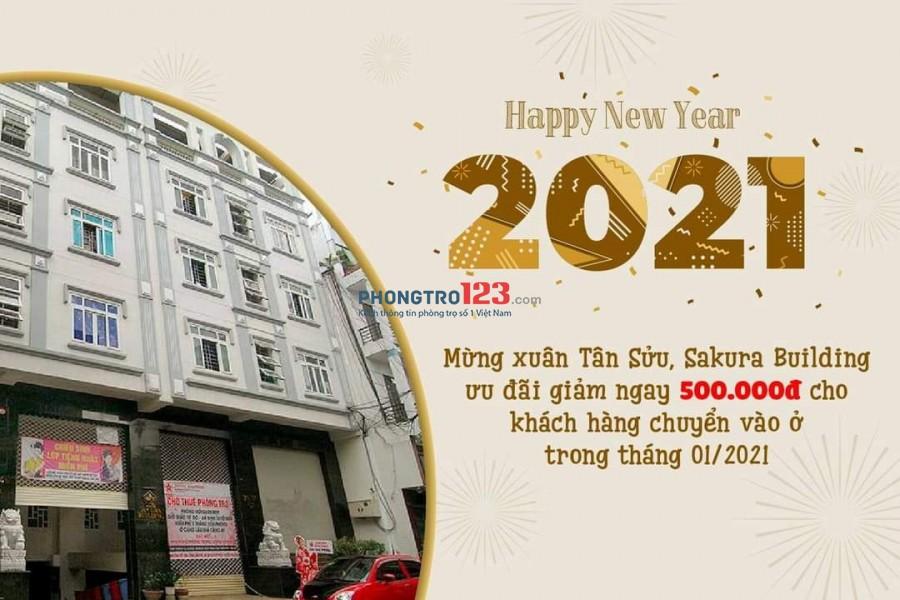 SAKURA BUILDING ƯU ĐÃI GIẢM 500K TỪ 01/01/2021~20/02/2021