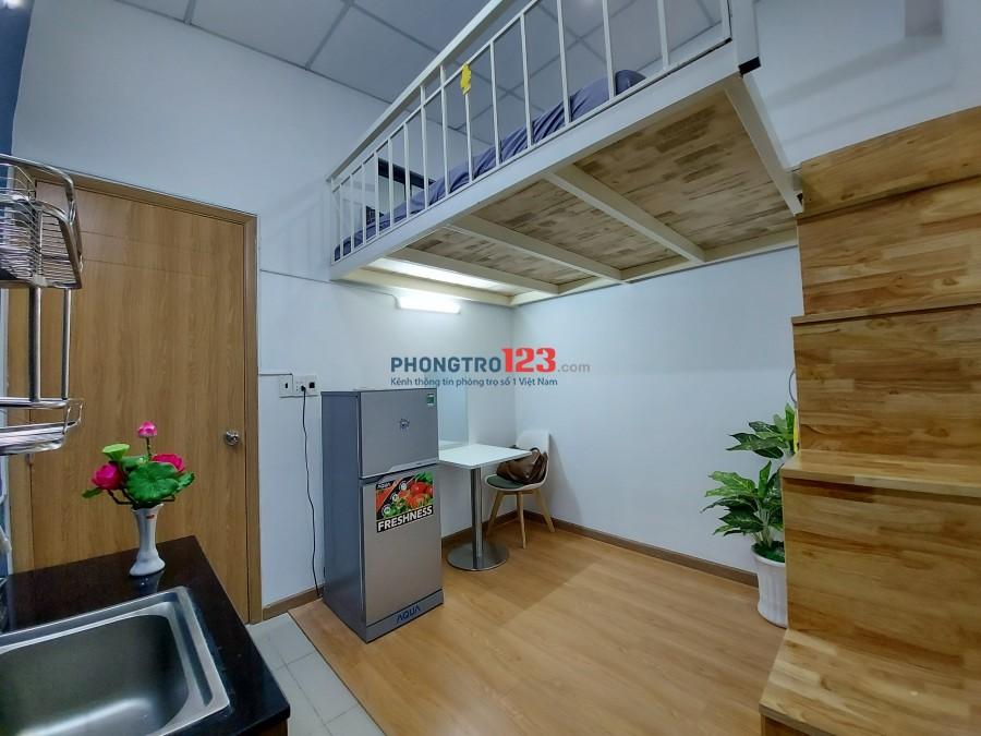 Phòng đẹp full tiện nghi, có gác lững, Nơ Trang Long, Bình Thạnh(chợ Cây Thị), giờ giấc tự do