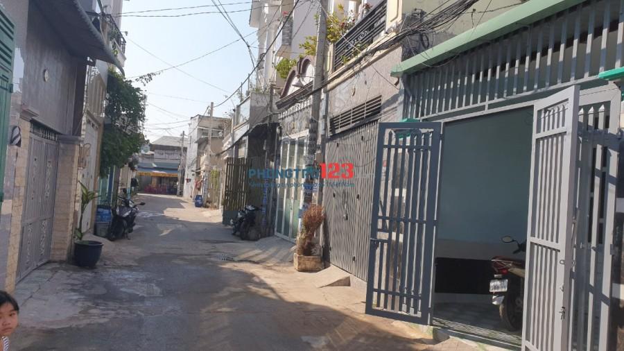 Cho thuê nhà NC 110m2 hẻm xe tải tại Nguyễn Ảnh Thủ P Hiệp Thành Q12 giá 6tr/th