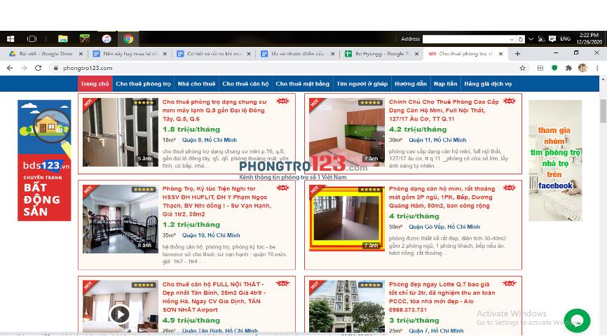 Tìm phòng ở Phongtro123.com để có cho mình không gian phù hợp nhất