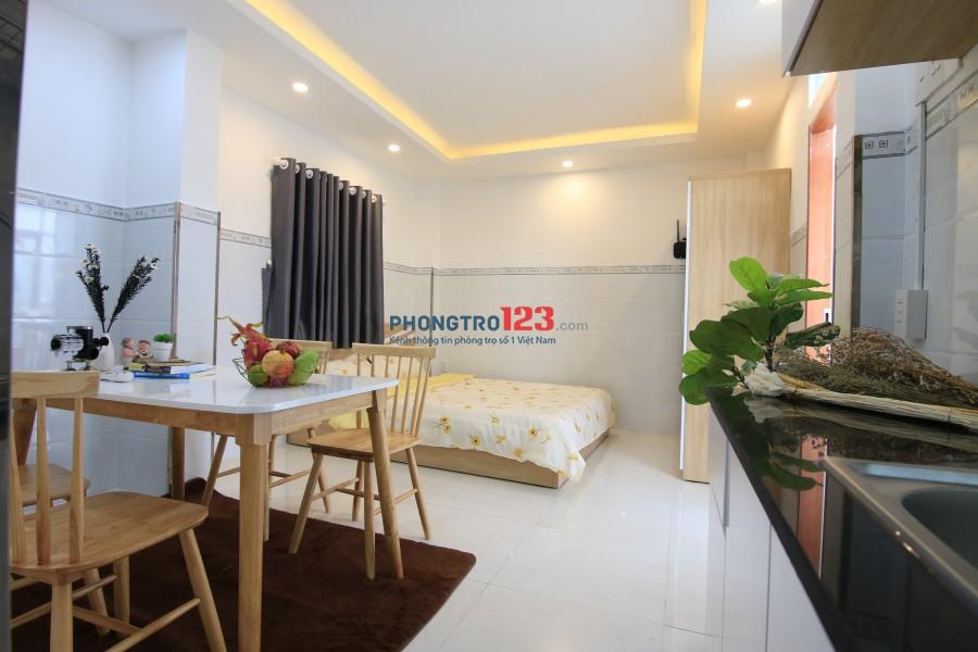 Cho thuê căn hộ Studio 1 PN + bếp đầy đủ tiện nghi mới trung tâm Quận 3.