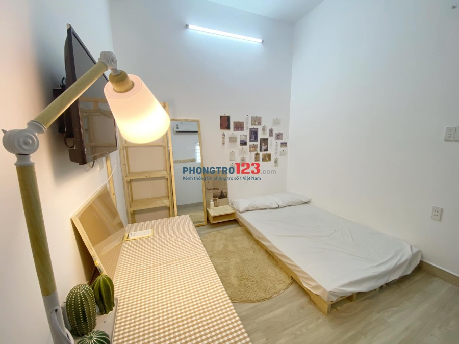 Phòng trọ Full nội thất có máy lạnh gần CVPM Quang trung, Gò Vấp