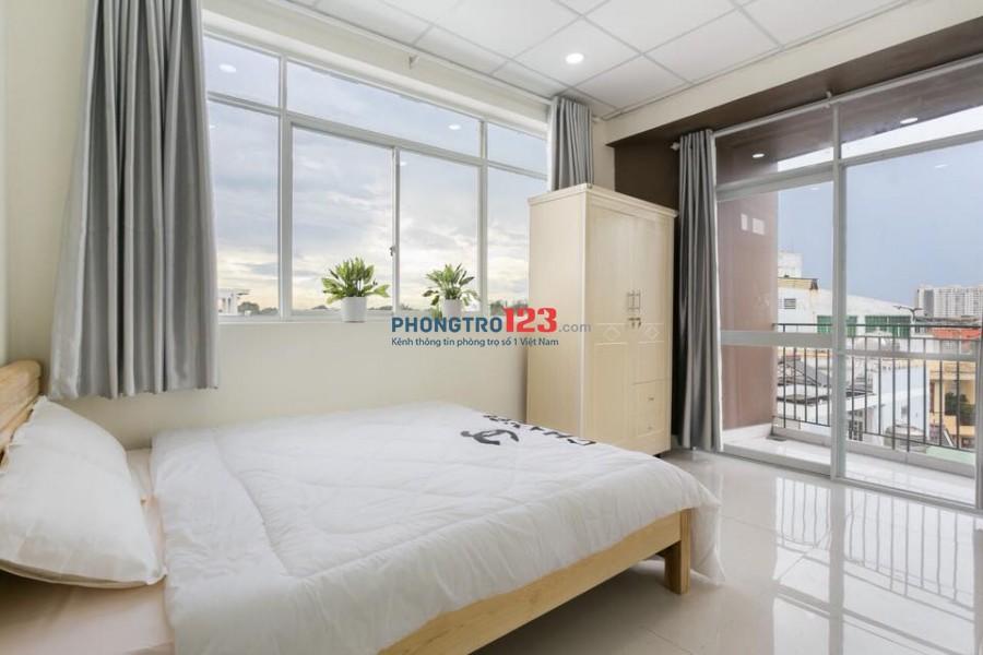 Cho thuê phòng cao cấp khu vực trung tâm Q. Phú Nhuận, gần sân bay TSN giờ tự do, có bảo vệ 24/24.