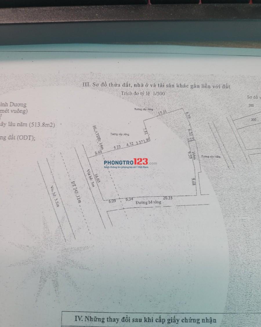 Cho thuê mặt bằng xưởng, bách hóa xanh, Điện máy xanh, Ngân hàng... đường mặt tiền 11m, gần trường học, chợ Lái Thiêu