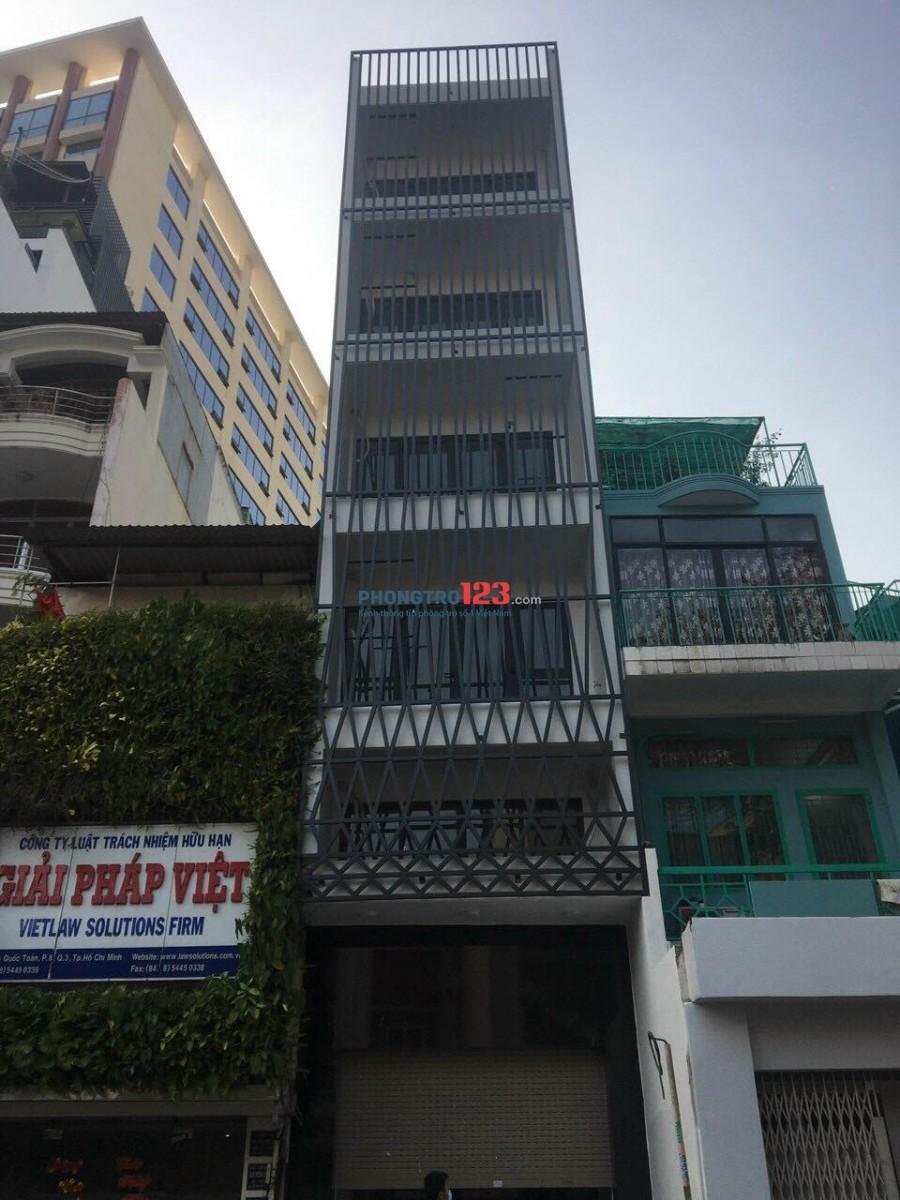 Cho thuê mặt bằng nguyên căn mới xây trung tâm quận 3 4x17.5m hầm và 7 lầu