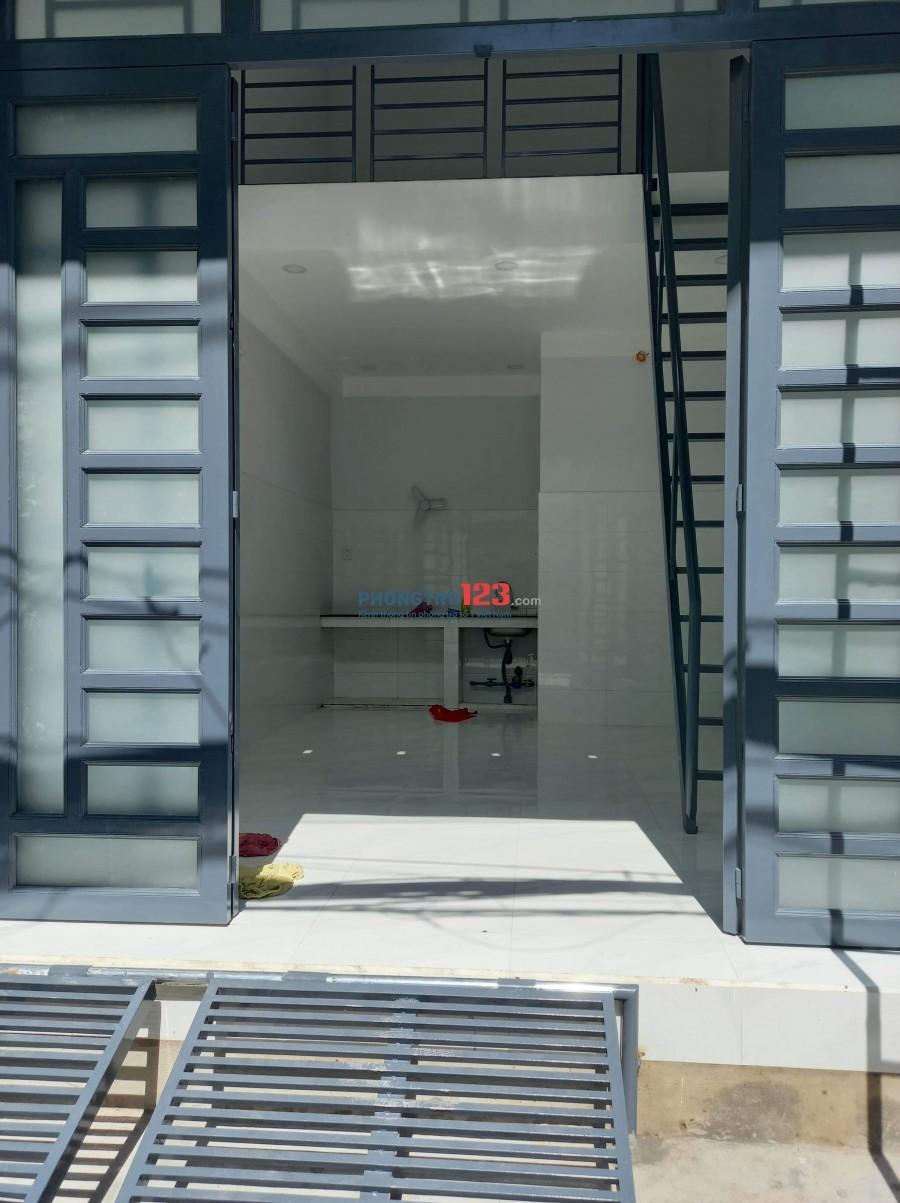 Cho thuê phòng mặt tiền 4x6 mới xây khu vực đông dân q. Bình Tân