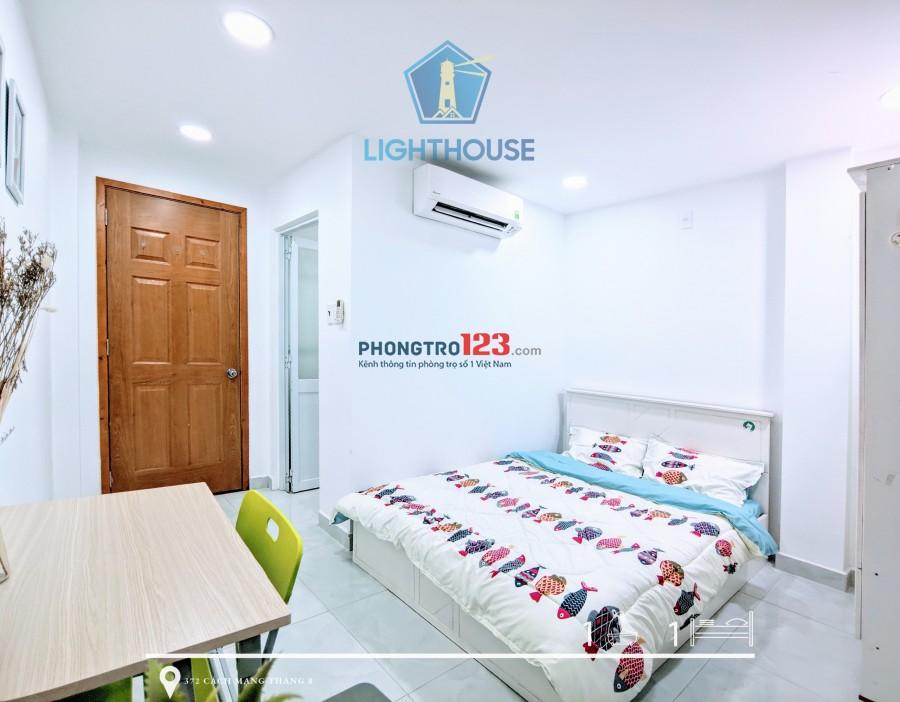 Căn hộ mới 100% đường CMT8, Kế chợ HÒA HƯNG - Full nội thất. có bảo vệ 24/7, cửa vân tay.