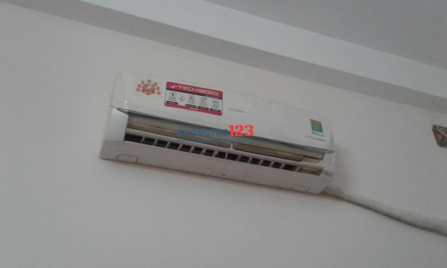 Cho thuê Phòng trọ có gác, máy lạnh, ban công, tầng trệt