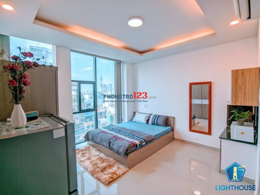 Phòng 28m2 ban công Phan Văn Trị Full Nội thất