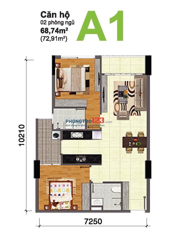 Căn hộ 2 phòng ngủ chung cư Bộ Công An