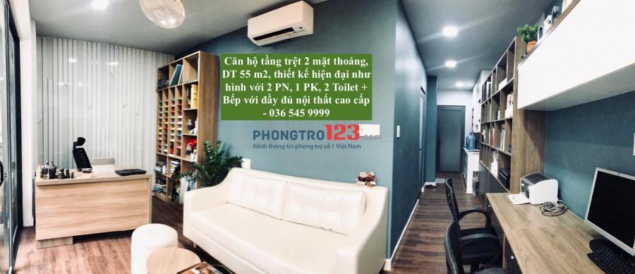 Căn hộ 55m, Trệt chung cư 2 mặt thoáng full NT cao cấp – Hồ Biểu Chánh – Phú Nhuận.