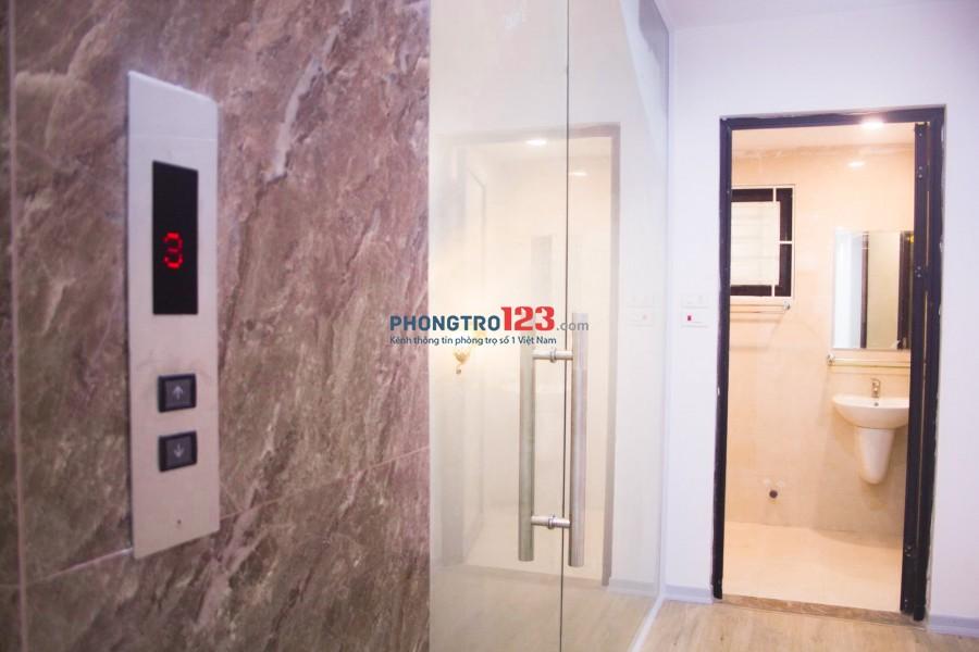 Phòng trọ siêu đẹp 3.5tr/tháng/tầng 45m2x 4 tầng, thang máy, xây mới, cách đường 20m tiện kinh doanh
