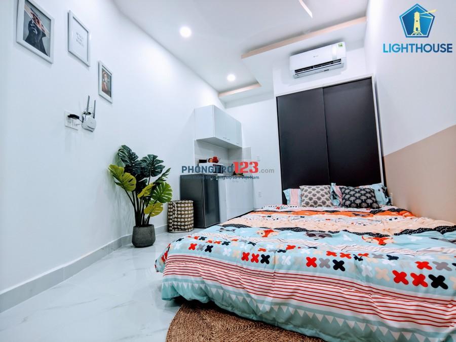Phòng full nội thất ngay BXMĐ-gần Hutech-GTVT-NGoại thương-Hồng Bàng-UEF- ngay NGUYỄN XÍ