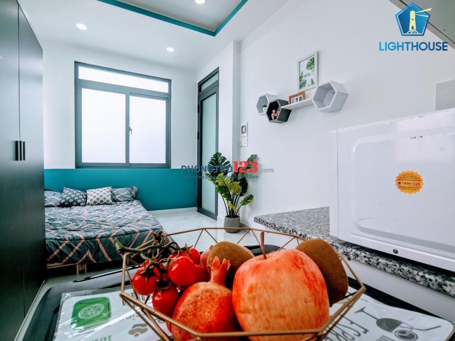 Phòng full nội thất ngay NGUYỄN XÍ - BXMĐ-gần Hutech-GTVT-NGoại thương-Hồng Bàng-UEF