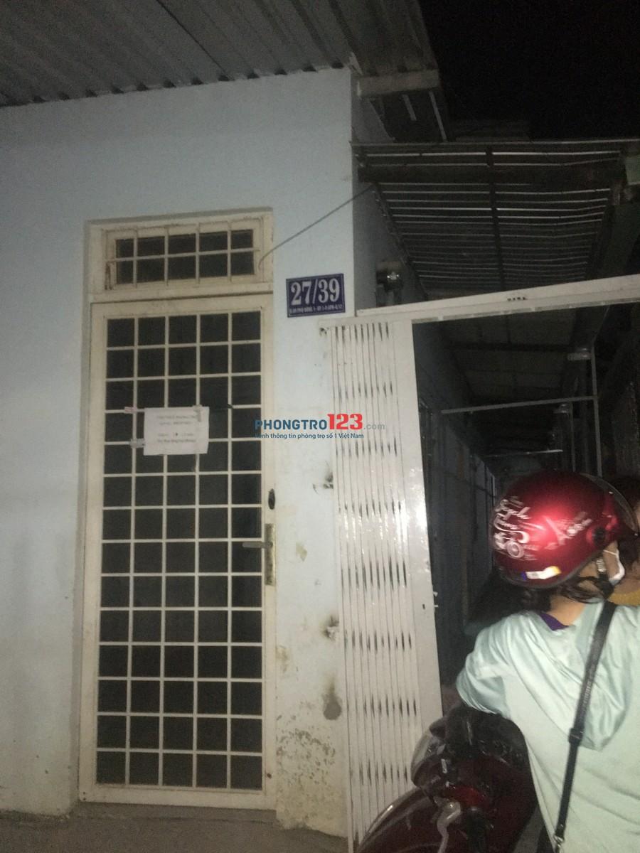 Cho thuê phòng trọ ở phường An Phú Đông Quận 12