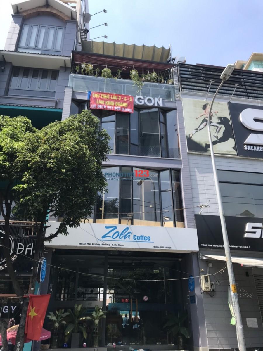 Chính chủ Sang quán cafe cực đẹp Ngay mặt tiền Phan Xích Long P2 Q Phú Nhuận