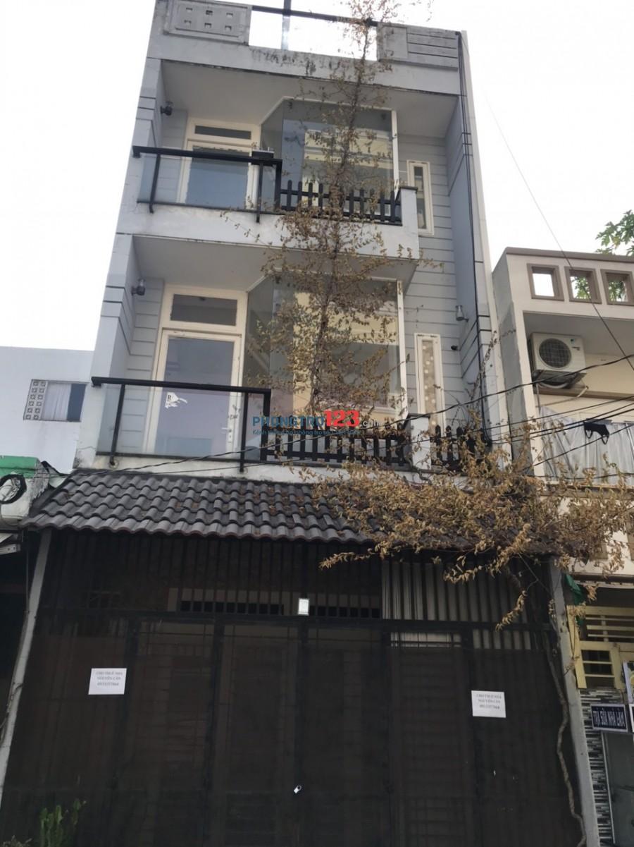 Cho thuê nhà NC 5x10 1 trệt 2 lầu mặt tiền Đường số 1 P Bình Hưng Hòa A Q BTân giá 12tr/th