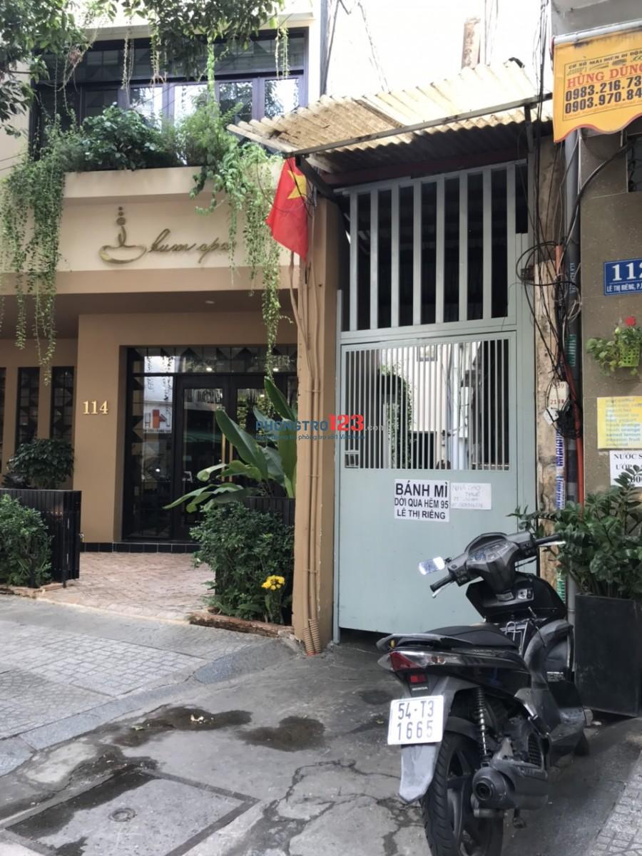 Cho thuê nhà mặt tiền hông 40m2 số 114 Lê Thị Riêng P Bến Thành Q1 giá 10tr/th