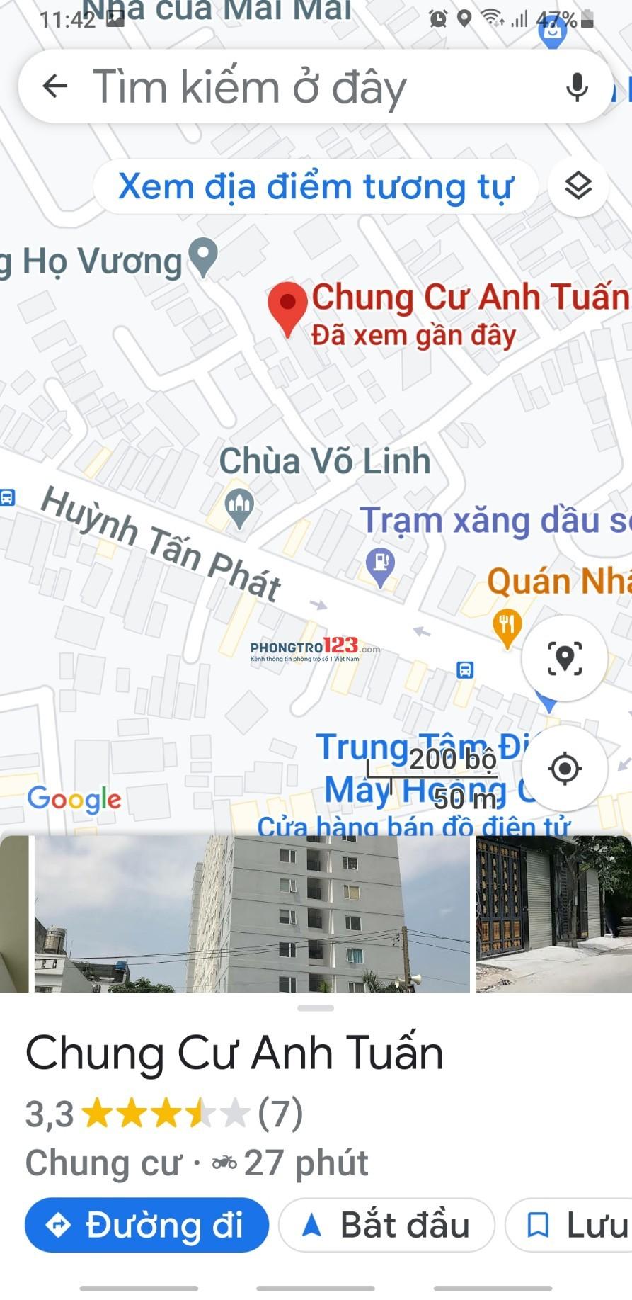 Chính chủ cho thuê Chung cư Huyện Nhà Bè 69m² 2PN có nội thất giá 6tr/th