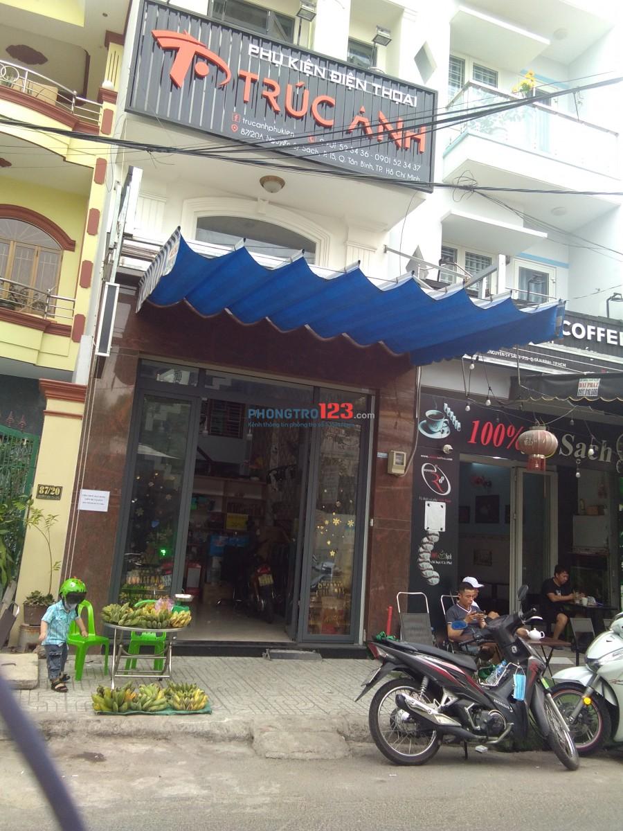 Cho thuê mặt bằng gần chợ Tân Trụ