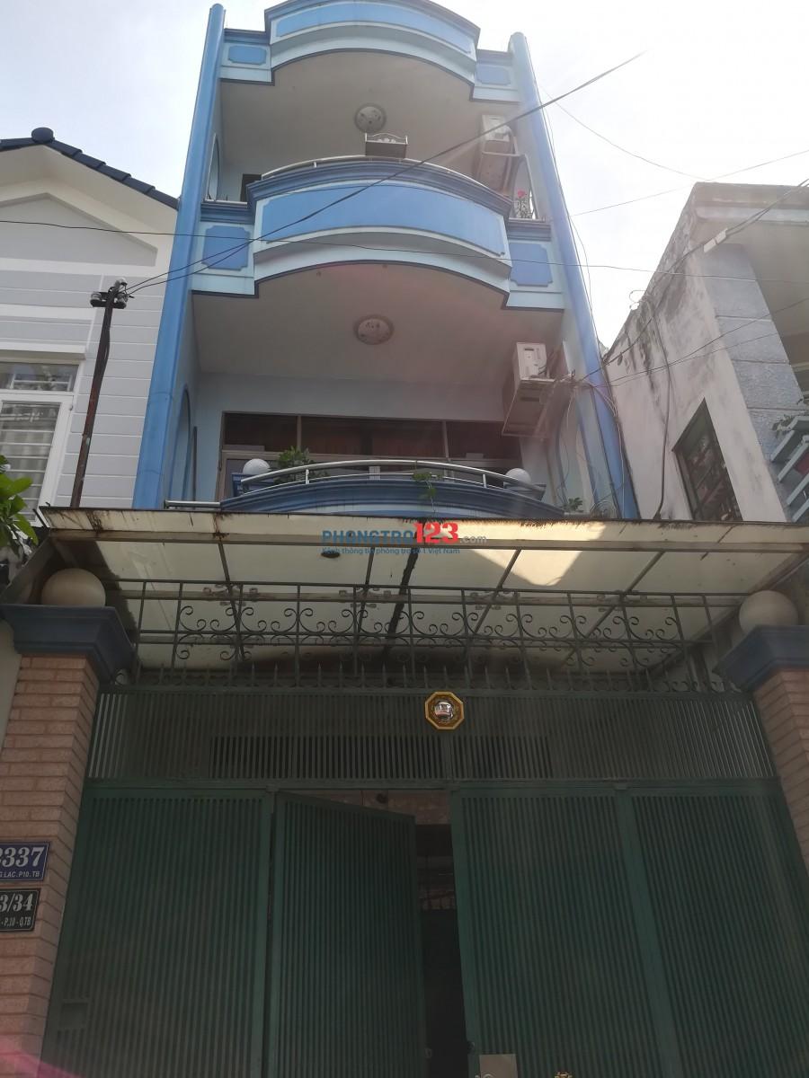 Nhà 3 tầng lầu. Cho thuê nguyên tầng thượng