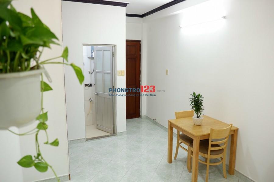 Cho thuê phòng đầy đủ nội thất 28m2 tại 82/17 Nguyễn Công Hoan P7 PNhuận giá 4,5tr/th