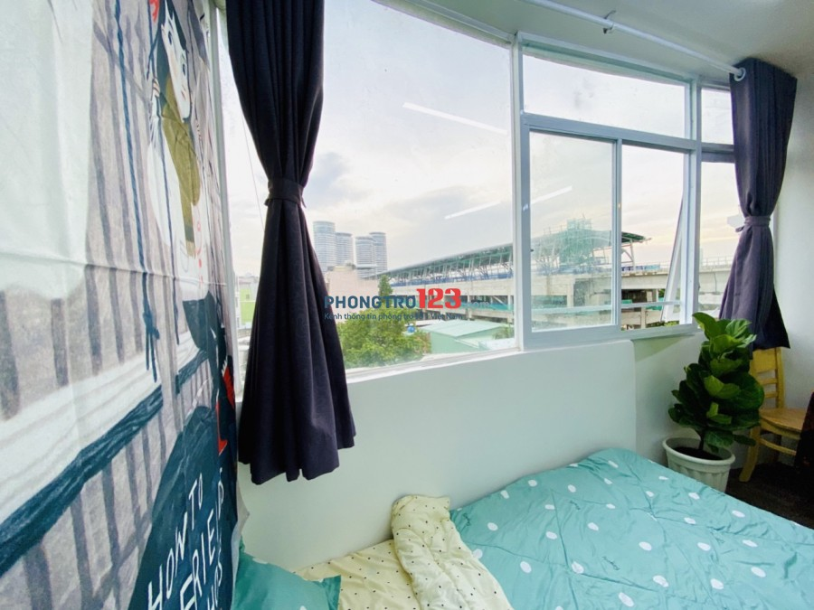 Căn hộ dịch vụ giá rẻ view đẹp - đối diện Landmark 81 Q Bình Thạnh - free vệ sinh phòng 2 lần/ tuần
