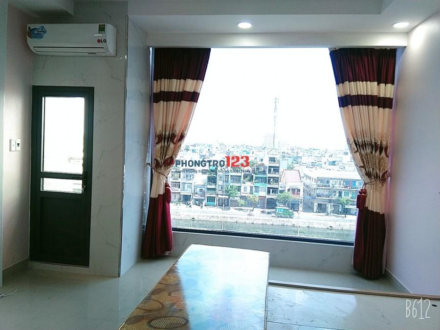 CHDV ban công+view full tiện nghi mới xây, Thang Máy MT Võ Văn Kiệt, Q5, giá chỉ 4tr8