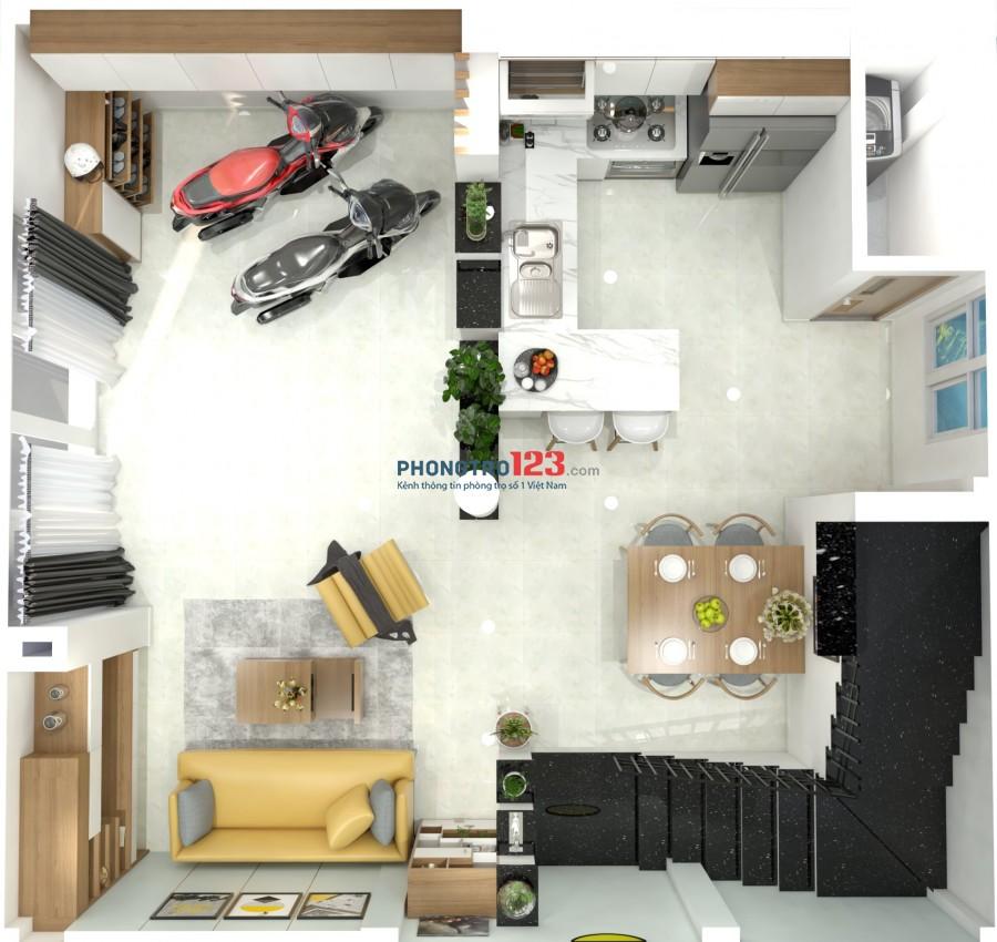 Cho thuê nhà nguyên căn hẻm 2m , full nội thất ,P.5, Gò Vấp