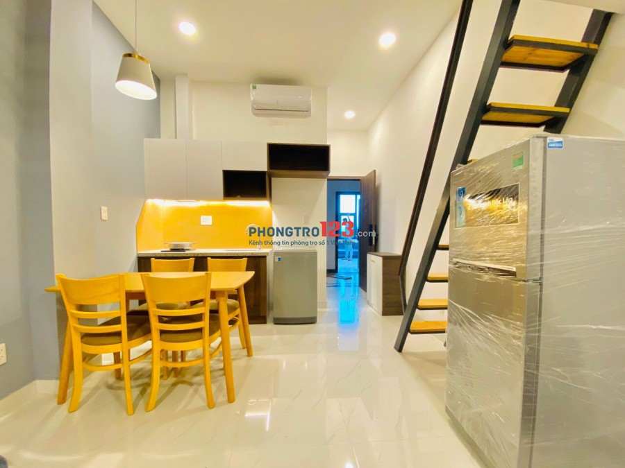 Cho thuê gác ở 3 - 4 người quận bình thạnh, có nội thất mới 100% gần Hutech, Lotte Ung Văn Khiêm