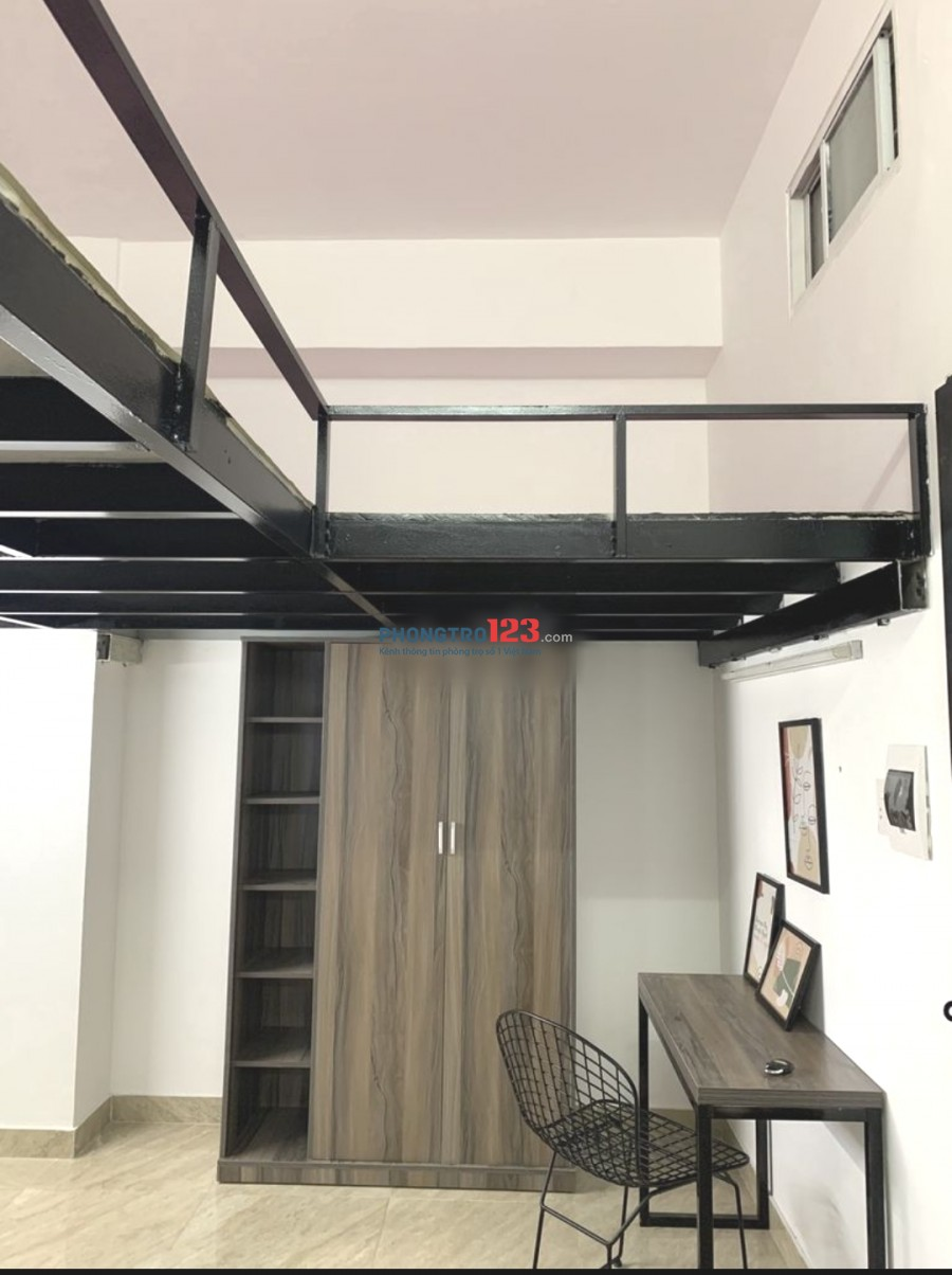 Phòng MỚI 20m², GÁC+THÁNG MÁY, full nội thất Phan Xích Long , giá 4tr3