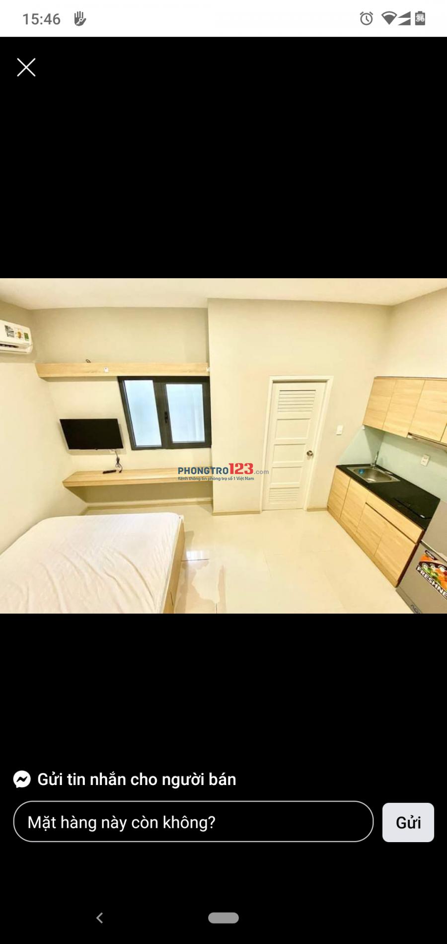Phòng 22m² thoáng, Thang máy+full NT đẹp Trần Hưng Đạo, giá 3tr8