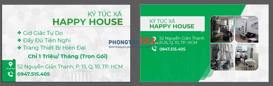 KÝ TÚC XÁ_ Happy house quận 10_giá rẻ