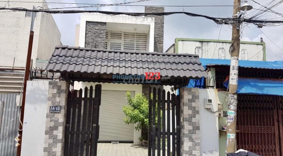 Cho thuê nhà NC 150m2 1 trệt 1 lầu tại 58/4B Đường Số 19 P BHH A Q Bình Tân giá 12tr/th