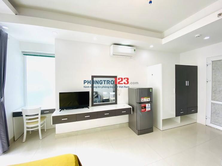 Cho thuê căn hộ TT quận 3 – Studio, Full, Ban công rộng, nhà trống vào ở ngay