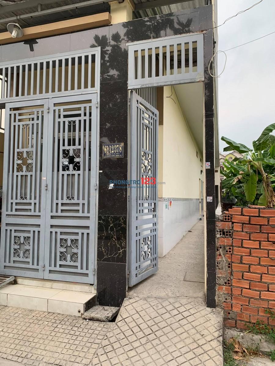 Cho thuê 02 phòng trọ gần cầu Ba Tấn, P. Thạnh Xuân, Q. 12