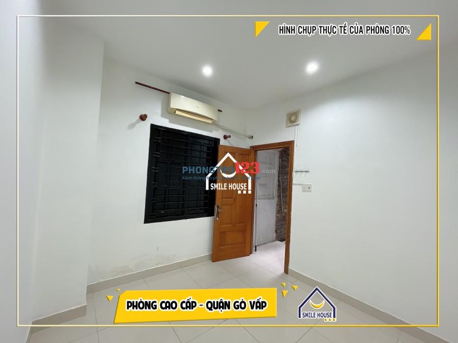 Phòng trọ 25m2, rộng, đầy đủ nội thất gần ĐH Văn Lang, siêu thị Emart Phan Văn Trị