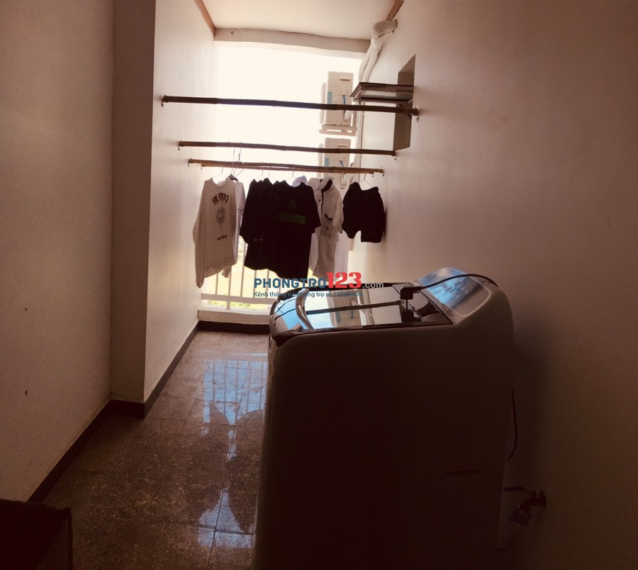 Tìm nữ ở ghép giá 1,4tr/th, phòng rộng 16m2, full nội thất, phòng ở 2 người ở 187a Lê Văn Lương